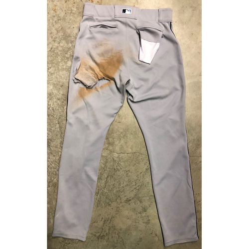 Photo of Game Used Pants: Austin Meadows triple (scores on throwing error) off Spencer Turnbull - June 5 at DET (2019)