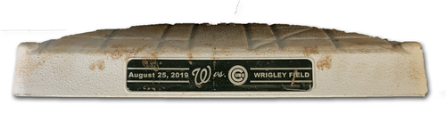 Photo of Game-Used 2nd Base -- Used Innings 1 through 4 -- 8/25/19 -- Nationals vs. Cubs