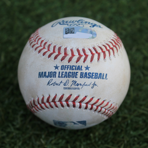Photo of Game-Used Baseball: Ronny Rodriguez 74th Career Hit and 42nd Career RBI (DET @ KC in Omaha - 6/13/19 - No Omaha Logo)