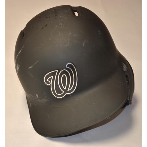 "Photo of Howie ""TRUCK"" Kendrick Washington Nationals Game-Used 2019 Players' Weekend Helmet"