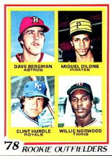 Photo of 1978 Topps #705 Rookie Outfielders/Dave Bergman RC/Miguel Dilone RC/Clint Hurdle RC/Willie Norwood R