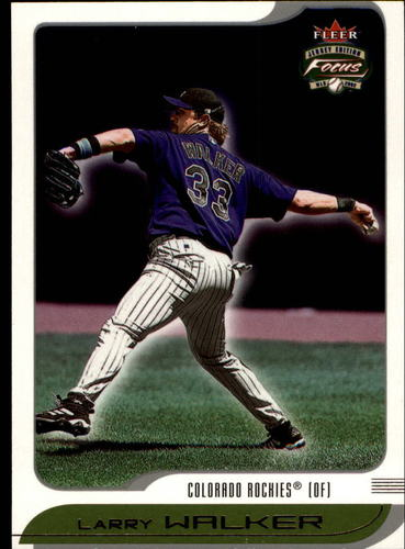 Photo of 2002 Fleer Focus JE #96 Larry Walker