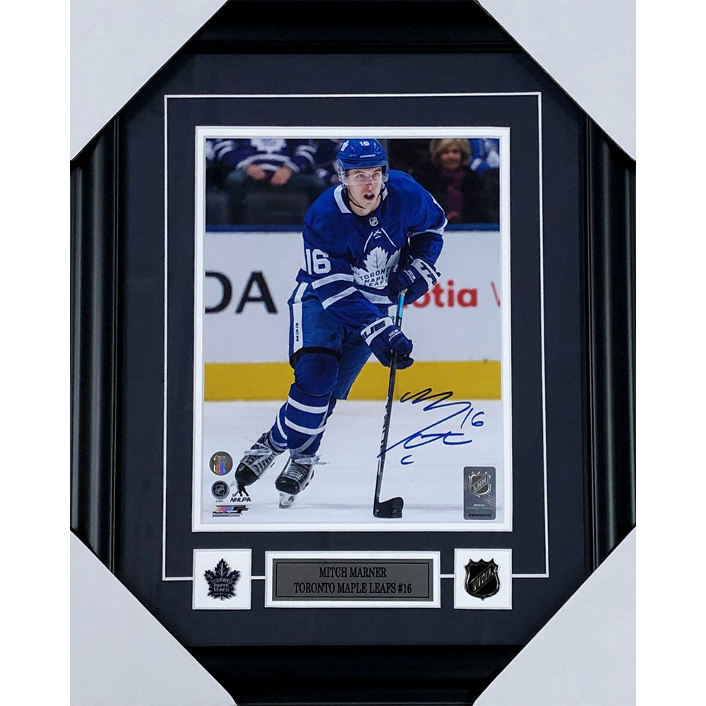 Mitch Marner  Autographed Toronto Maple Leafs Framed 8X10 Photo