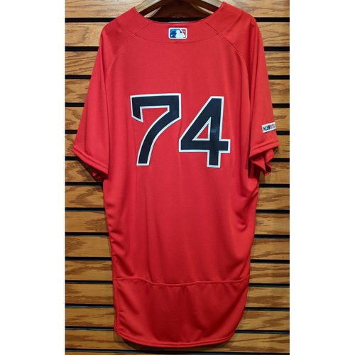 #74 Red Home Alternate Team Issued Jersey