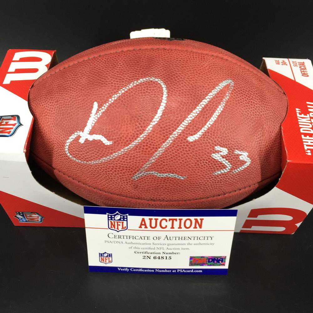 NFL - Vikings Dalvin Cook Signed Authentic Football W/ 100 Seasons Logo