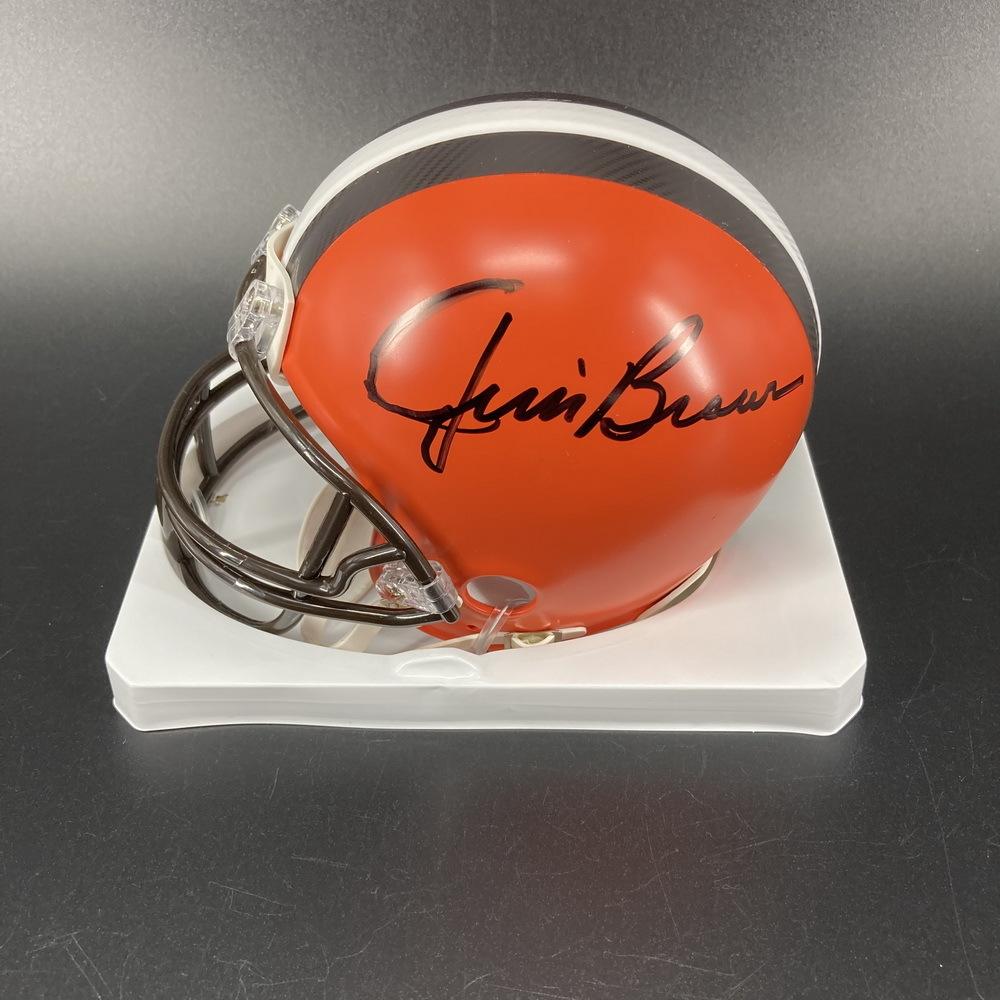 Legends - Browns Jim Brown Signed Mini Helmet