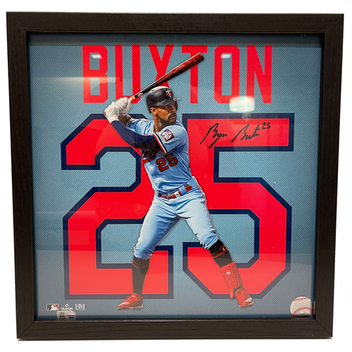 """Photo of Minnesota Twins Byron Buxton Autographed 13""""x13"""" Uniframe"""