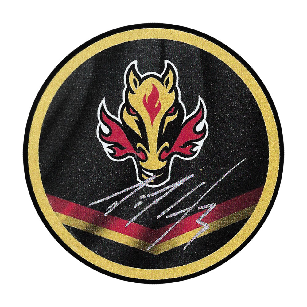 Dion Phaneuf Autographed Calgary Flames Reverse Retro Puck