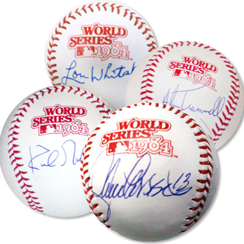 Detroit Tigers 1984 World Series Autographed Baseball Collections