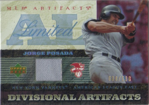 Photo of 2007 Artifacts Divisional Artifacts Limited #PO Jorge Posada