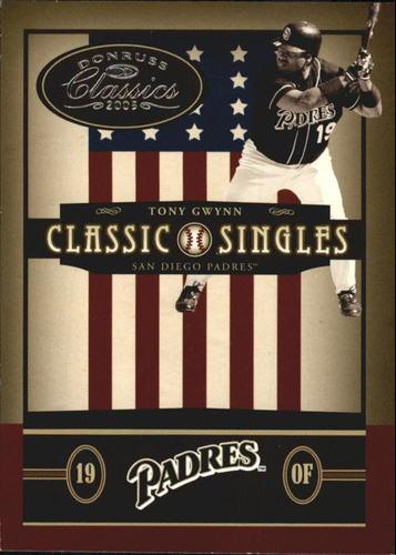 Photo of 2005 Donruss Classics Classic Singles #28 Tony Gwynn