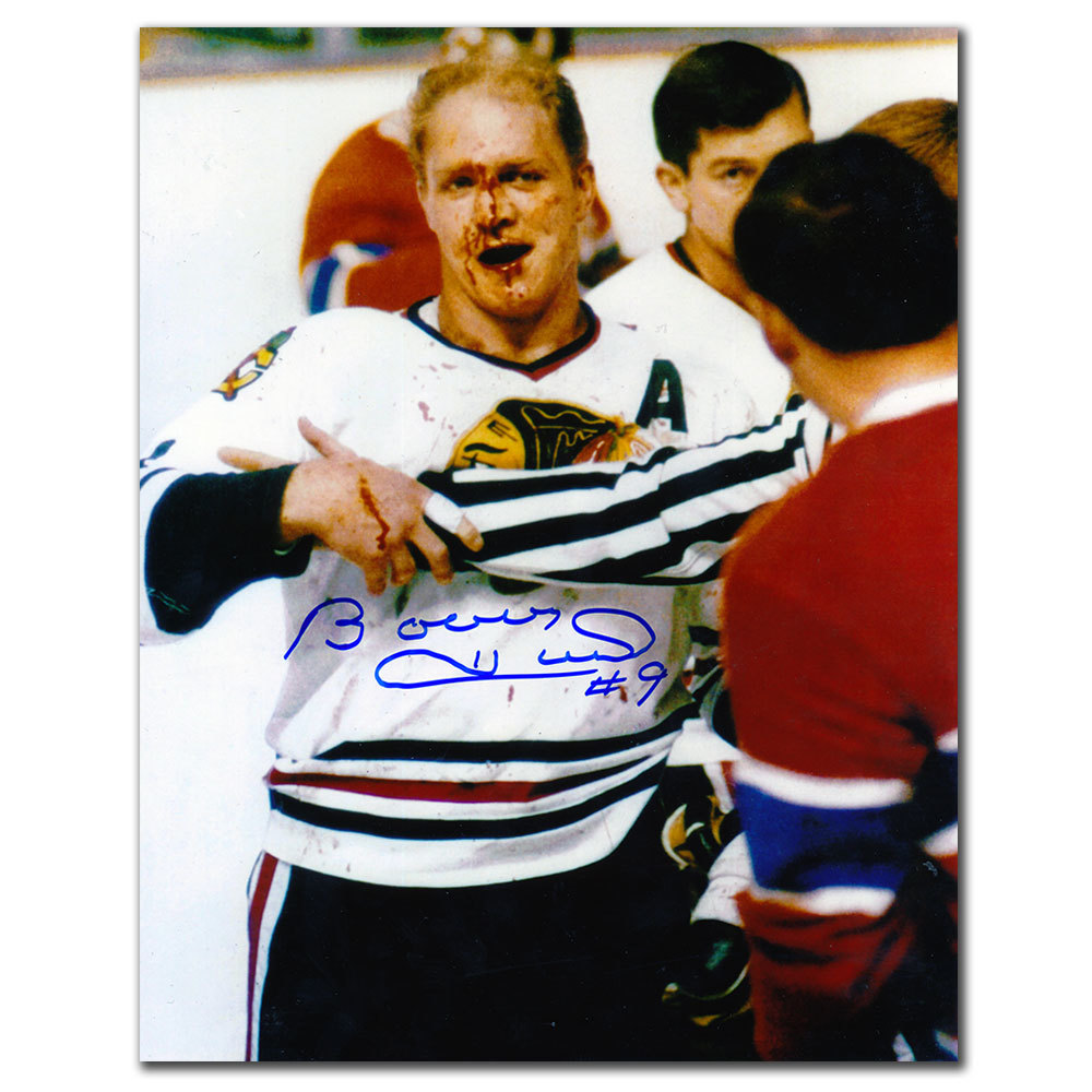 Bobby Hull Chicago Blackhawks WARRIOR Autographed 8x10
