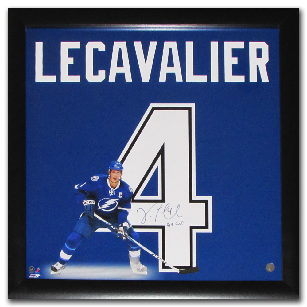 Vincent Lecavalier Autographed Tampa Bay Lightning 20X20 Uniframe Display w/04 CUP Inscription