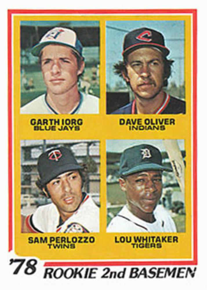 1978 Topps #704 Rookie 2nd Basemen Lou Whitaker Rookie Card