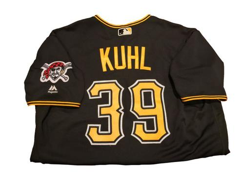 #39 Chad Kuhl Game-Used Black Alternate Jersey - Worn on 4/24/17