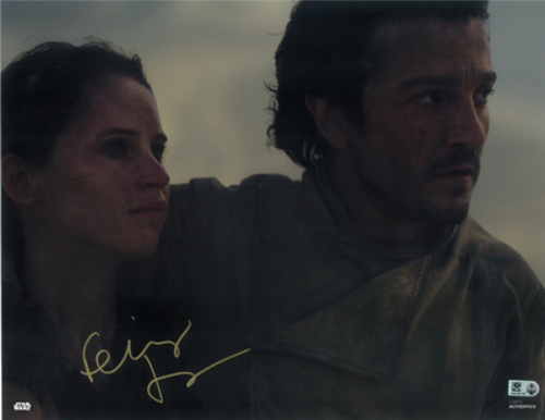 Felicity Jones as Jyn Erso 11x14 Autographed in Gold Ink Photo