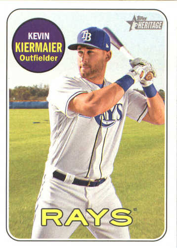 Photo of 2018 Topps Heritage #134 Kevin Kiermaier