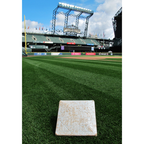 Photo of Game-Used 2nd Base (Innings 1-6) From the Albert Pujols 3000 Hit Game - Mariners vs Angels - 5/4/2018