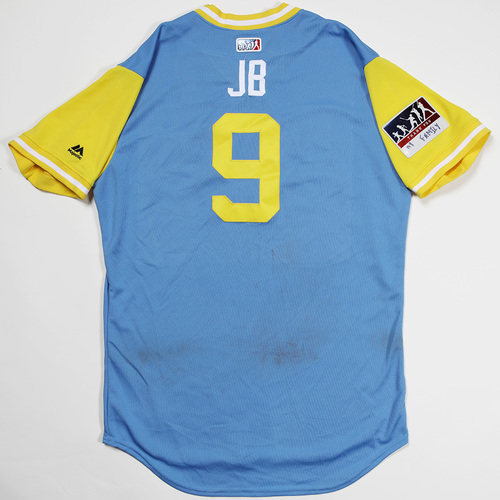 "Photo of Jake ""JB"" Bauers Tampa Bay Rays Game-Used 2018 Players' Weekend Jersey"
