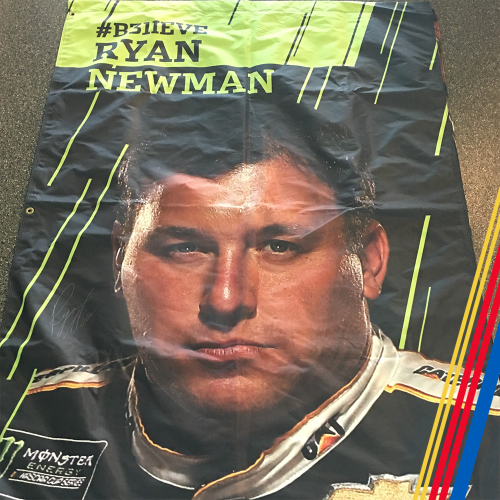 NASCAR's Ryan Newman Autographed Banner!