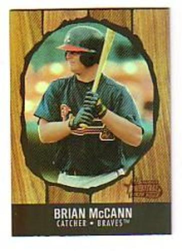 Photo of 2003 Bowman Heritage Rainbow #216 Brian McCann KN