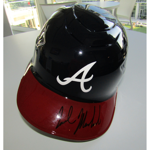 Photo of Nick Markakis Autographed Batting Helmet