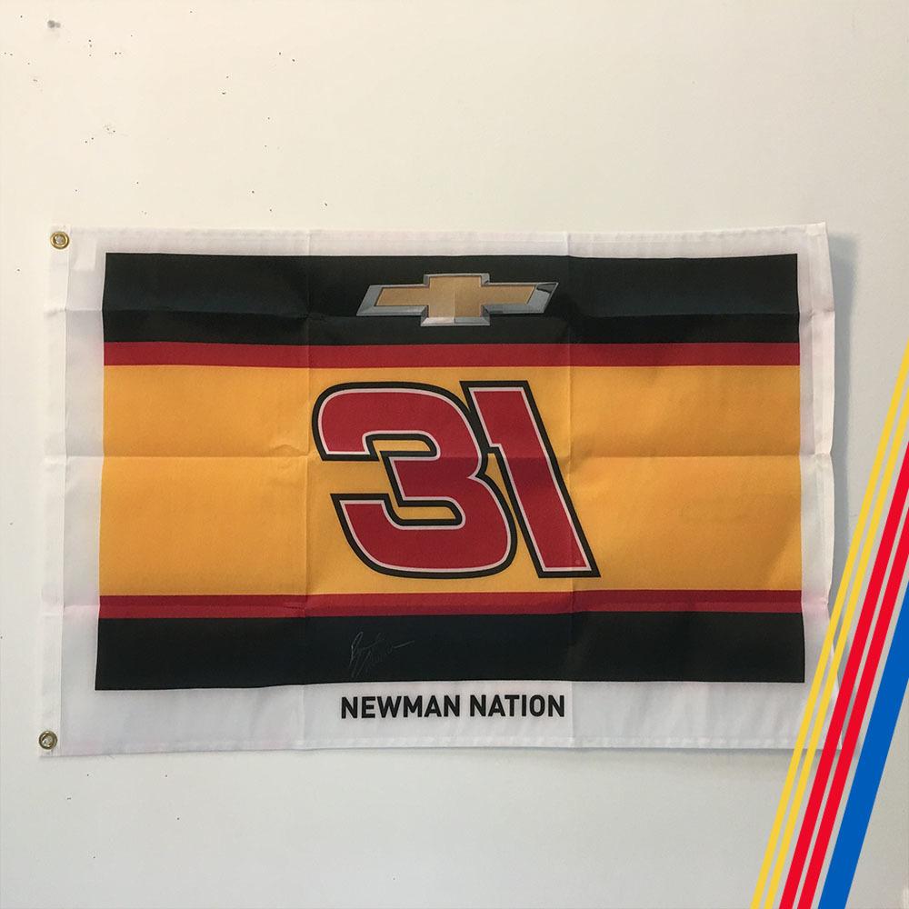 NASCAR's Ryan Newman Autographed Flag!