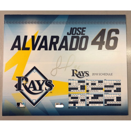 Photo of Game-Used Autographed Locker Tag: Jose Alvarado