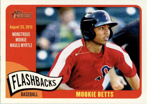 Photo of 2014 Topps Heritage Minors Flashbacks #FBMB Mookie Betts