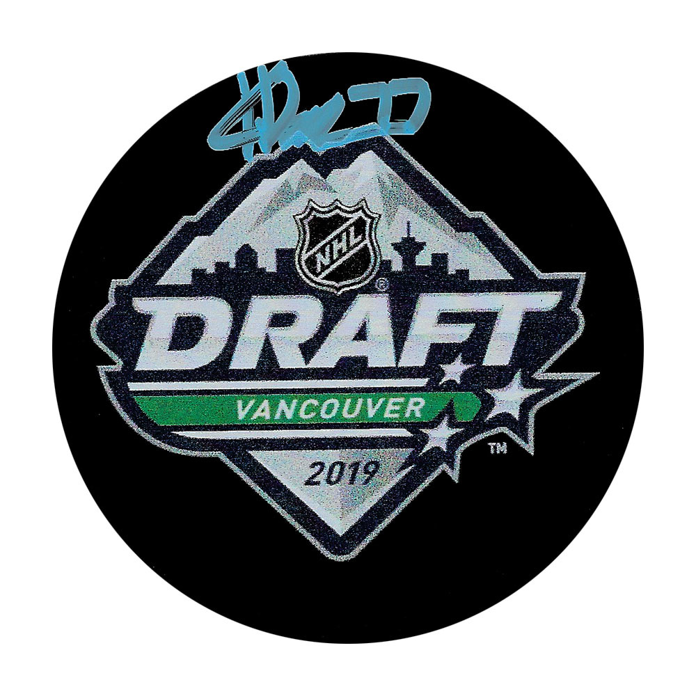 Kirby Dach Autographed 2019 NHL Entry Draft Puck