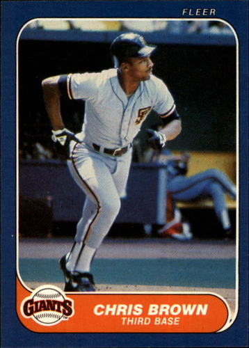 Photo of 1986 Fleer #535 Chris Brown RC