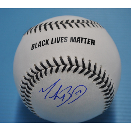 Photo of MLB Opening Day Auction Supporting The Players Alliance - Autographed Black Lives Matters Baseball - Mookie Betts