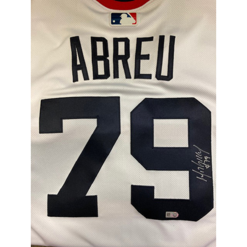 Photo of Jose Abreu Autographed 1983 Throwback Jersey