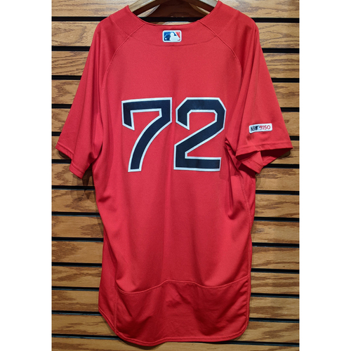 Photo of #72 Red Home Alternate Team Issued Jersey