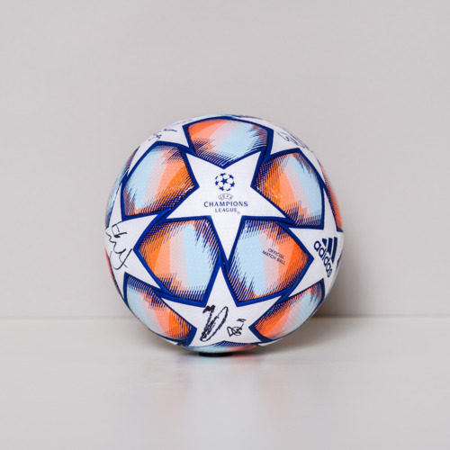 Photo of 20/21 Champions League Ball signed by the Manchester United Team