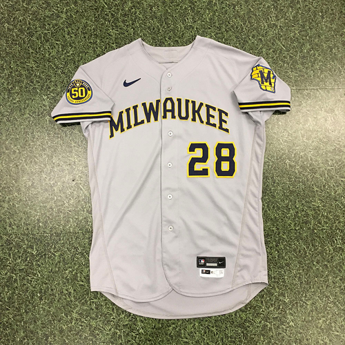 Photo of Ryon Healy 2020 Team-Issued Road Grey Jersey