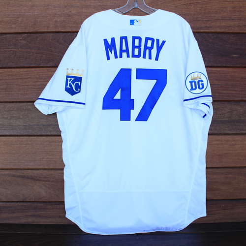 Photo of Game-Used 2020 Los Reales Jersey: John Mabry #47 (PIT @ KC 9/12/20) - Size 50