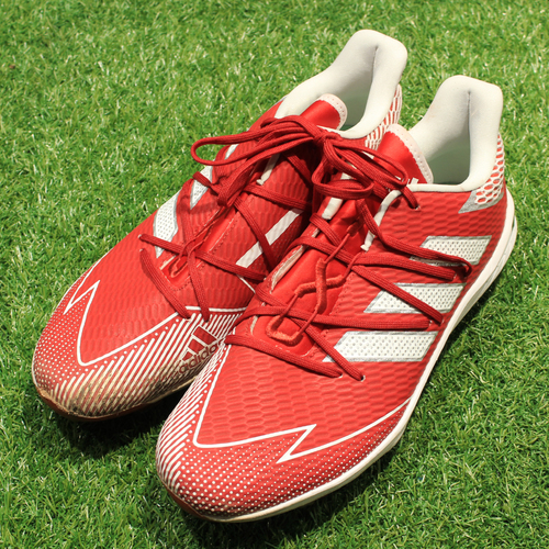 Photo of Game-Used Cleats: Jake Newberry #68 (DET @ KC 5/23/21) - Size 11 1/2
