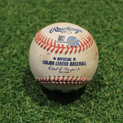 Photo of Game-Used Baseball: Marwin Gonzalez 760th Career Hit (MIN@KC 8/7/20)