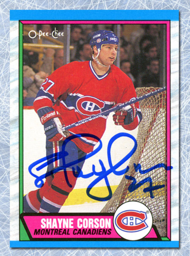 Shayne Corson Autographed 1989 O-Pee-Chee Rookie Card - Montreal Canadiens