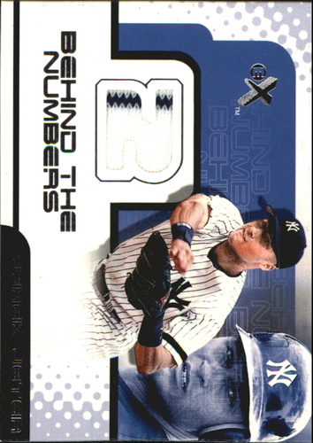 Photo of 2001 E-X Behind the Numbers Game Jersey #BH34 Derek Jeter