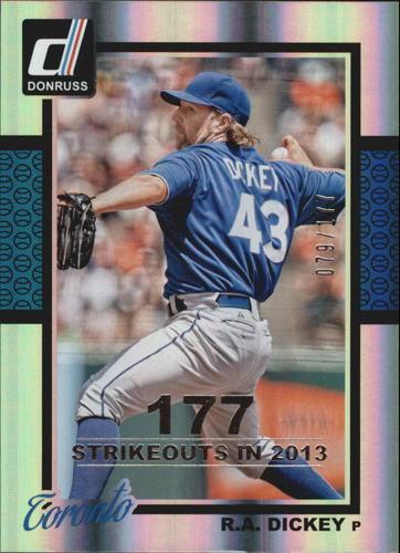 Photo of 2014 Donruss Stat Line Season #135 R.A. Dickey/177