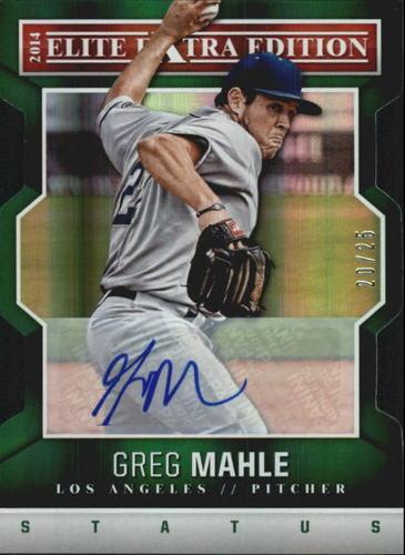 Photo of 2014 Elite Extra Edition Signature Status Emerald #45 Greg Mahle