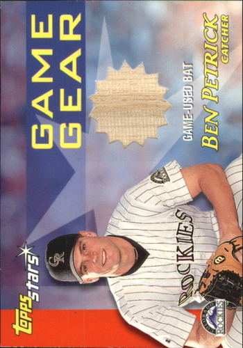 Photo of 2000 Topps Stars Game Gear Bats #GGB8 Ben Petrick B