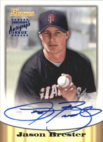 Photo of 1998 Bowman Certified Blue Autographs #40 Jason Brester