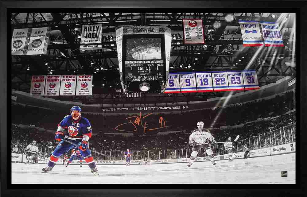 John Tavares - Signed and Framed 20x29 New York Islanders vs Capitals Canvas