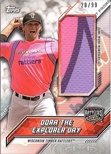 Photo of 2017 Topps Pro Debut Promo Night Uniform Relics #PNRDEN Dora the Explorer Day/Wisconsin Timber Rattl