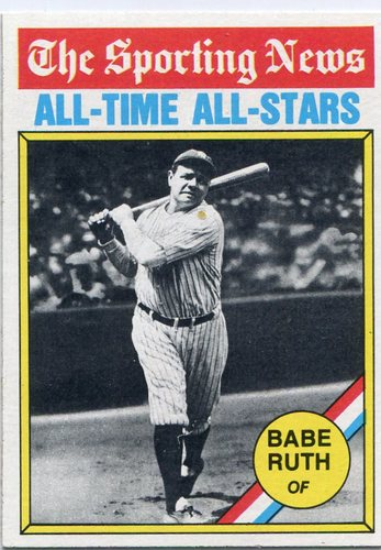 Photo of 1976 Topps #345 Babe Ruth -- Hall of Fame Class of 1936