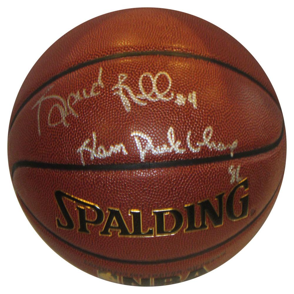 Spud Webb Autographed Spalding Basketball w/SLAM DUNK CHAMP 86 Inscription