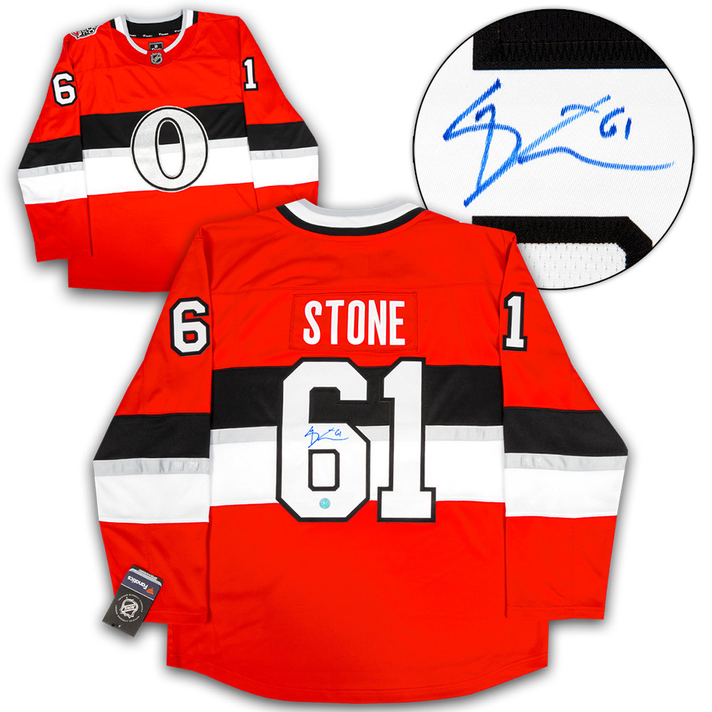 Mark Stone Ottawa Senators Signed NHL 100 Classic Fanatics Replica Hockey Jersey